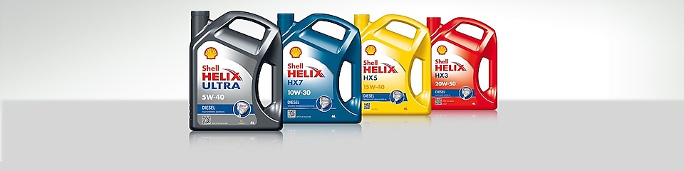 Gamme d'huiles Shell Helix Diesel