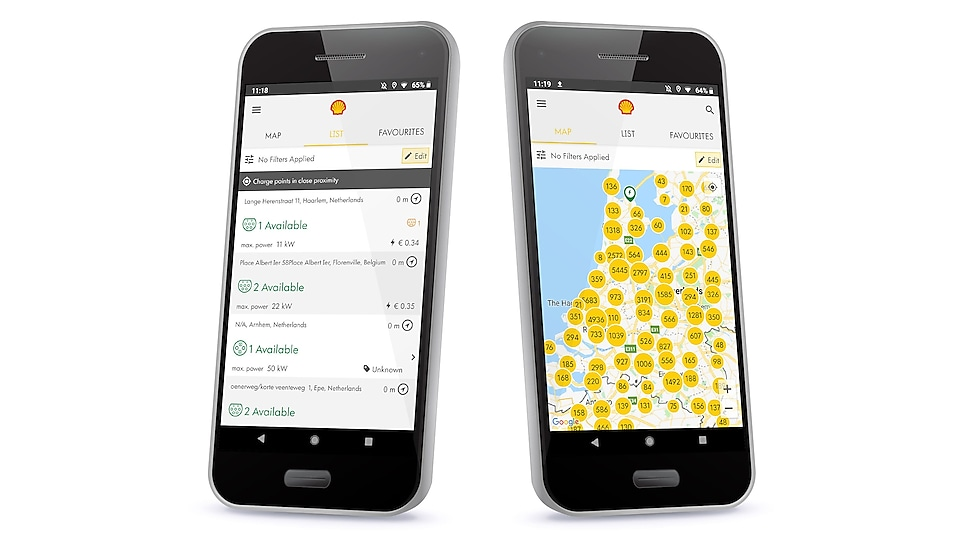 l'APP Shell Recharge