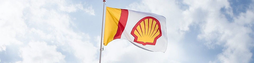 Shell vlag in de wind