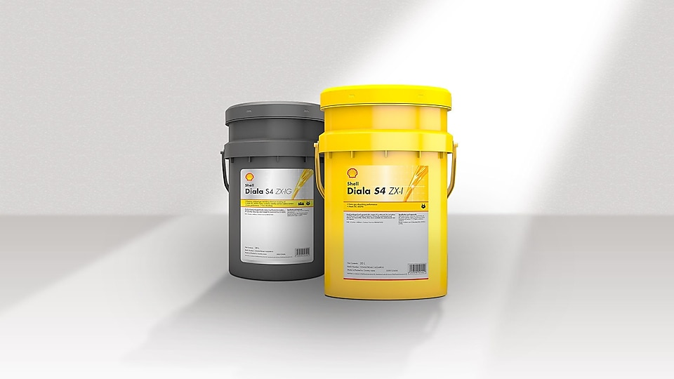 Shell Diala oil product gray and yellow
